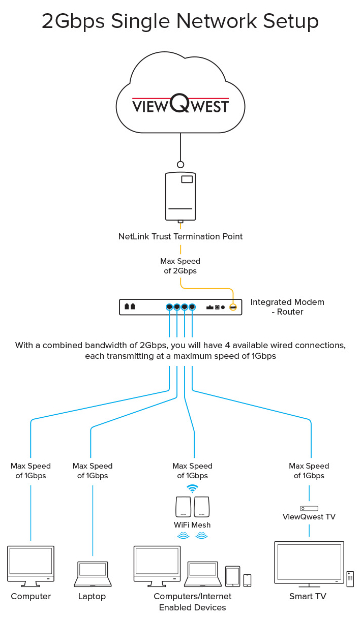 2Gbps Single Network Diagram