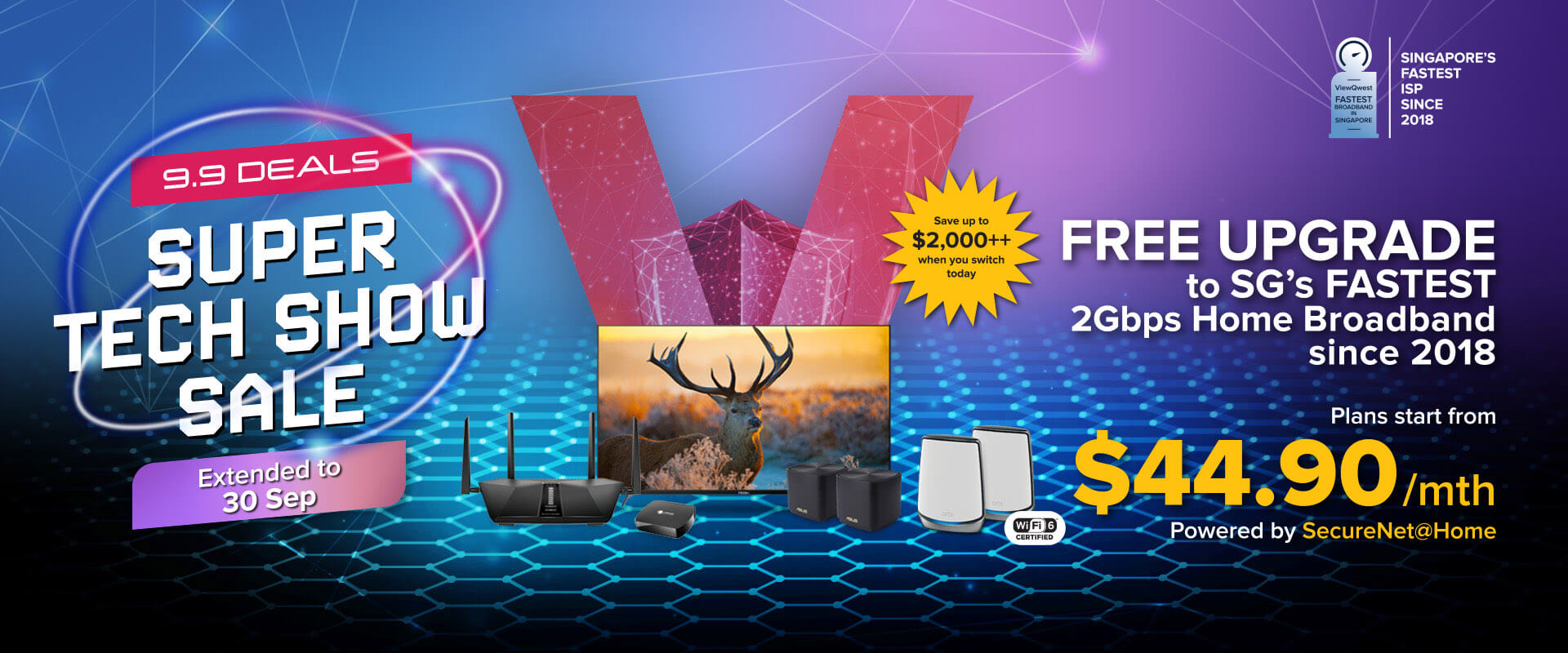 ViewQwest Entertainment 2Gbps Home Broadband Bundle - 9.9 Promotion